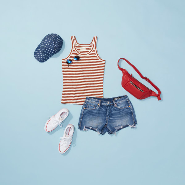 Fourth of July outfit for an outdoor festival