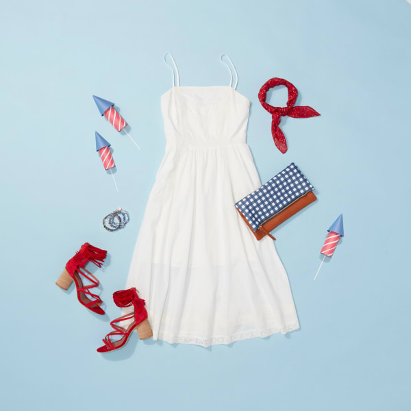 White dress outfit for the fourth of July