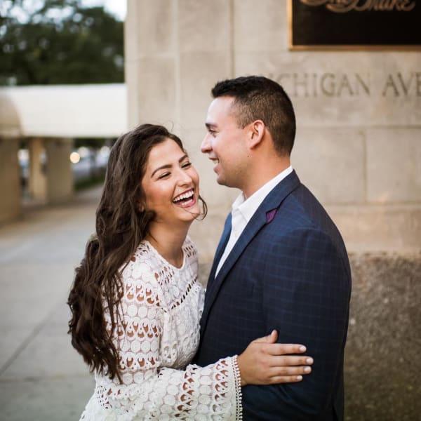 Tie-less wedding look