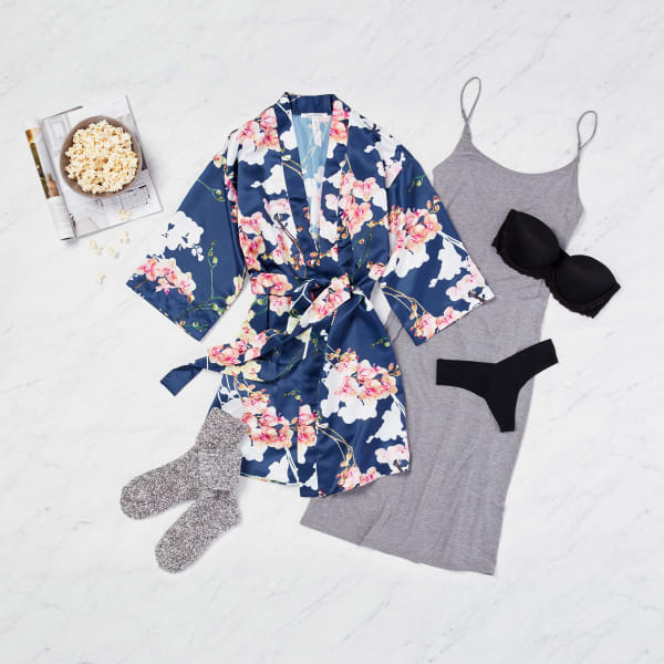 Silky robe for relaxation