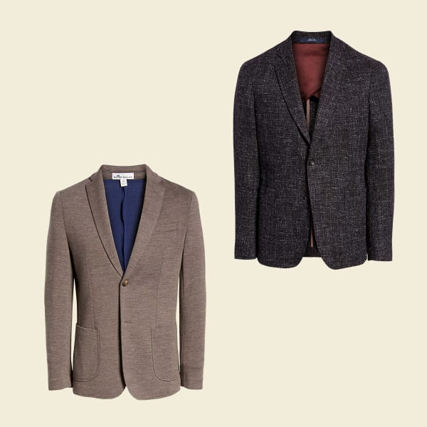 Two men's swackets (a sweater that doubles as a jacket).
