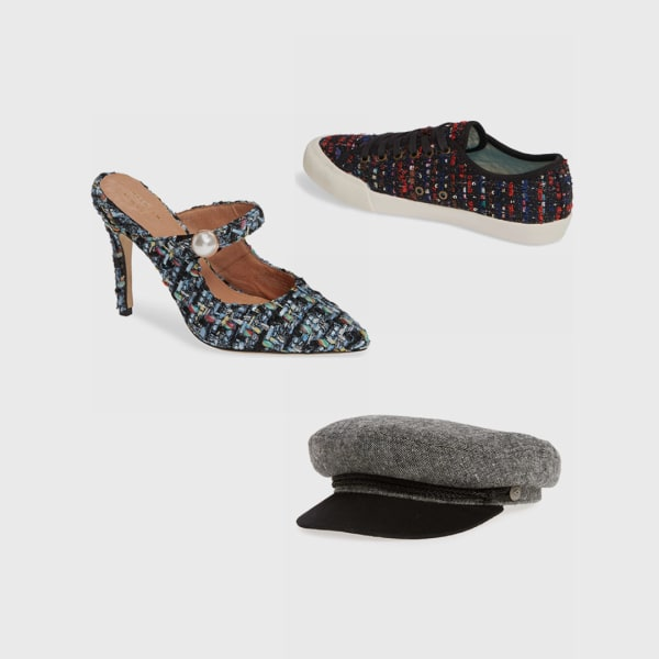 Tweed shoes and accessories.