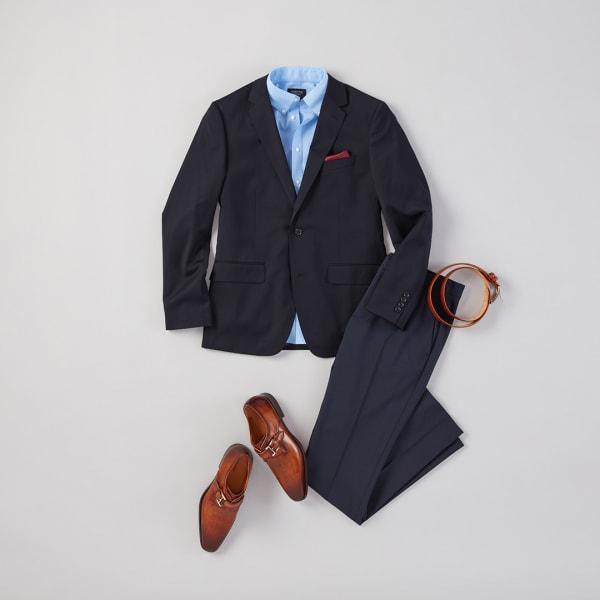 Suit and slacks.