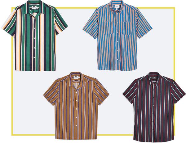 multi-stripe patterned shirts