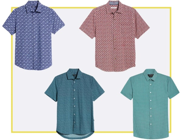 micro-print men's patterned shirts