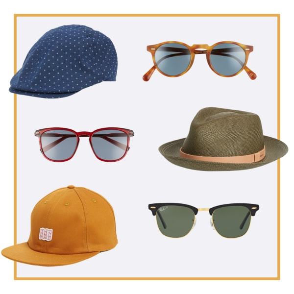 Sunglasses and hats.