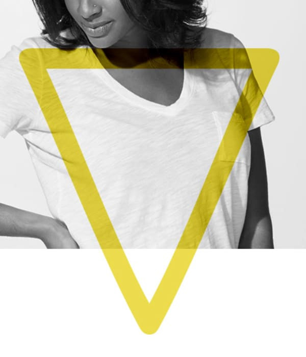 womens denim inverted triangle