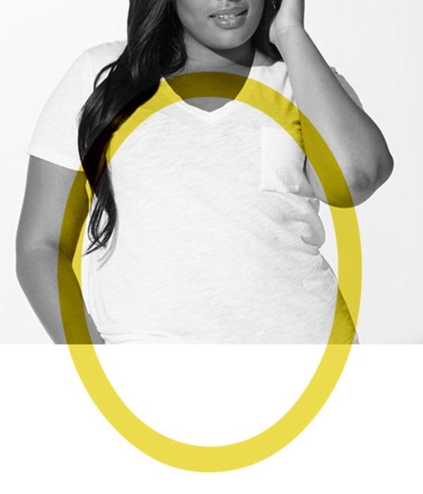 womens denim oval shape