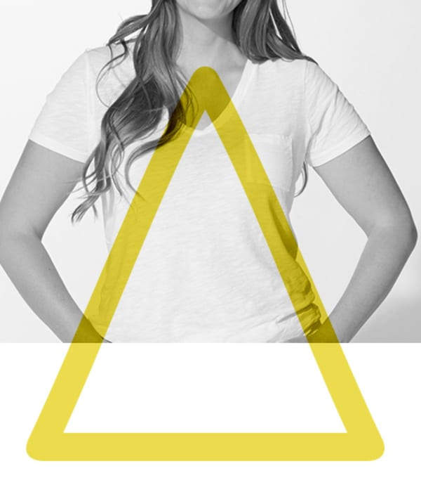 womens denim triangle shape