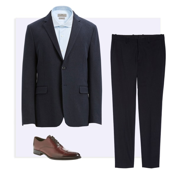 oval frame mens suits
