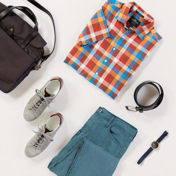 Men's colorful patterned button-down