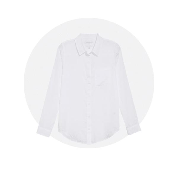White button-down