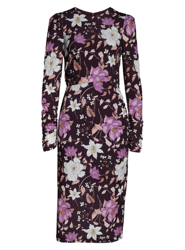 Long-sleeve floral fall dress
