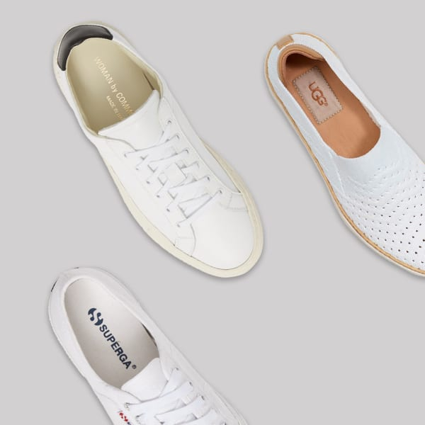 Women's white sneakers