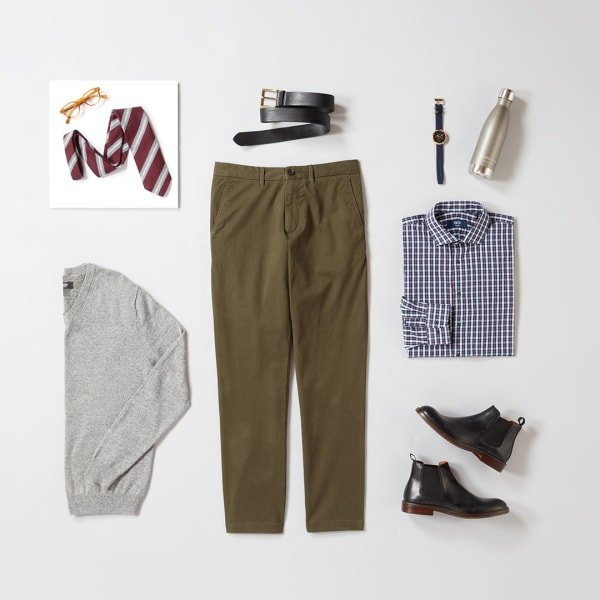 Men's business casual work outfit