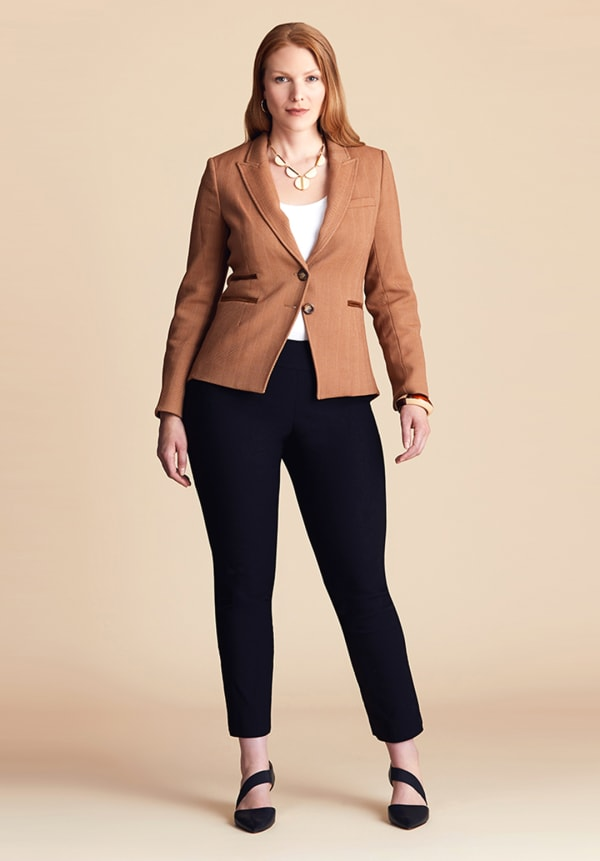 pear shape workwear look