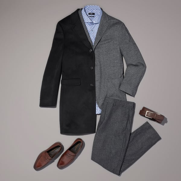Men's classic winter workwear outfit