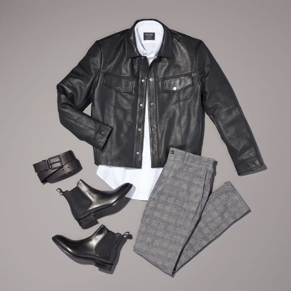 Men's transitional winter workwear outfit
