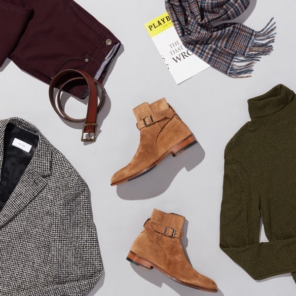Men's sophisticated weekend outfit