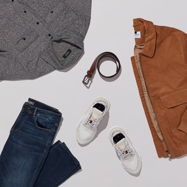 Knit shirt with jeans and sneakers