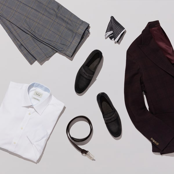 Sport coat with button-up and cropped pants