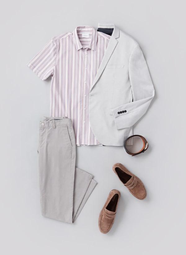 Man wearing minimalist outfit