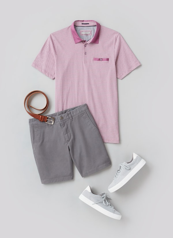 Man wearing preppy outfit