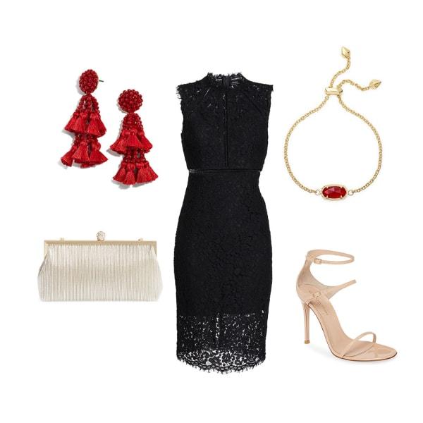 little black dress cocktail outfit