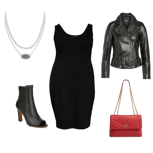 Little black dress bodycon outfit