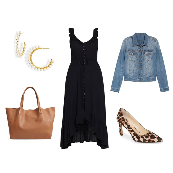 Little black dress casual outfit