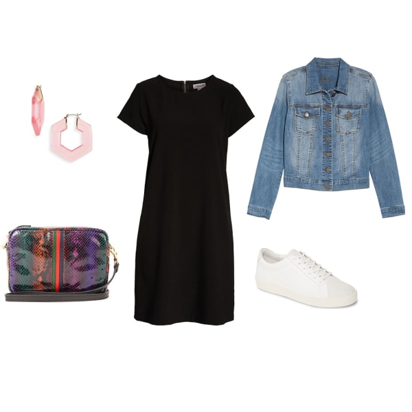 Little black dress weekend outfit