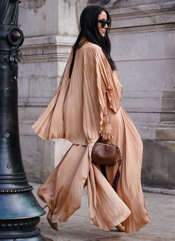 Silk blouse outfit