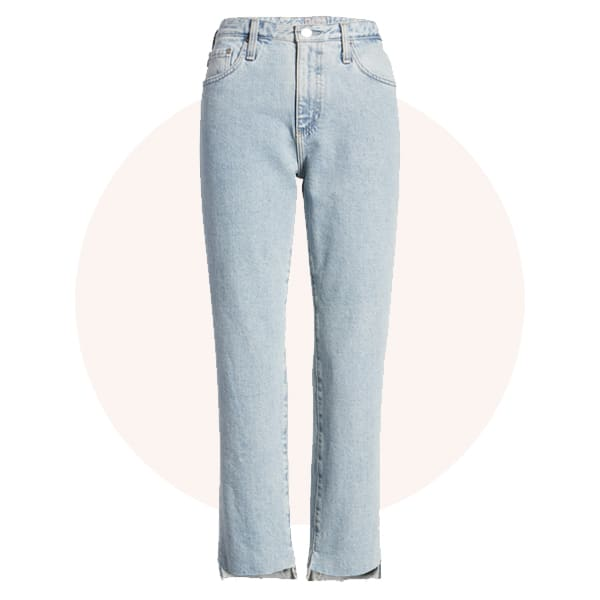 Mid- or high rise jeans