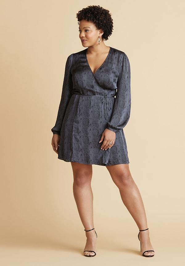 Apple Shape Wrap Dress