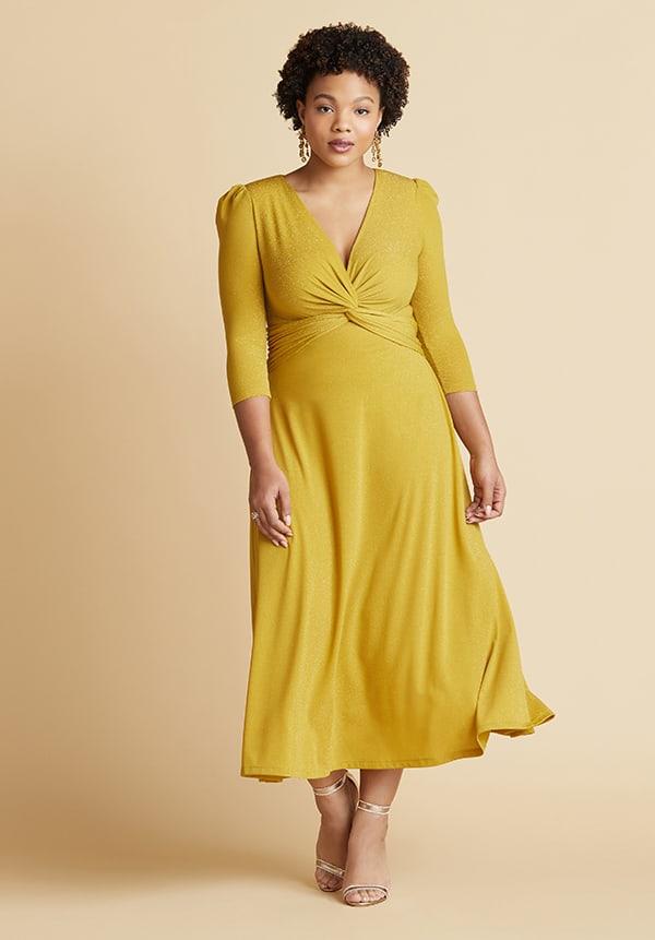 Apple Shape Midi Maxi Dresses