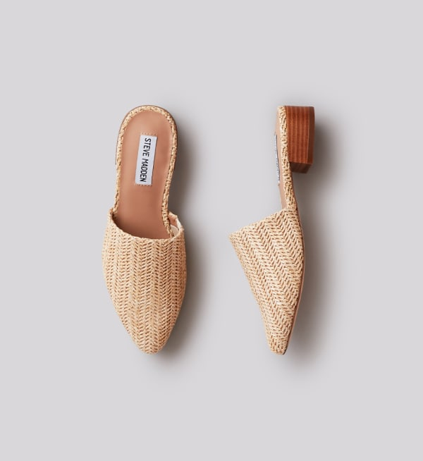 Sustainable-capsule-wardrobe Womens Natural-raffia-mules