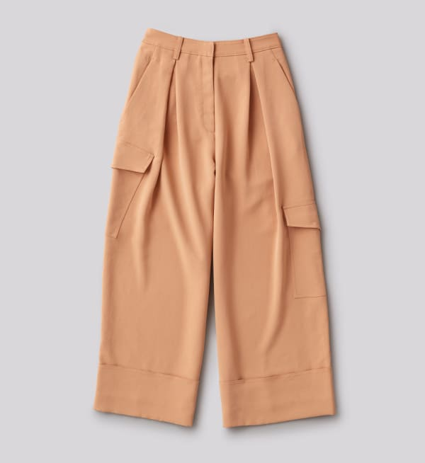 Sustainable-capsule-wardrobe Womens Wide-leg-cargo-pants