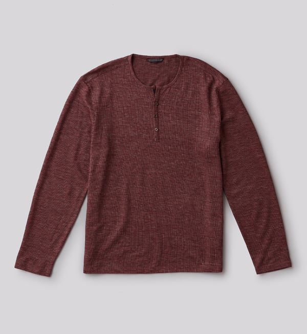 Sustainable-capsule-wardrobe Mens Slim-fit-henley