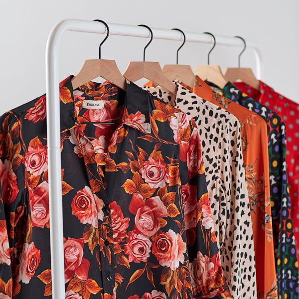 blouses on rack