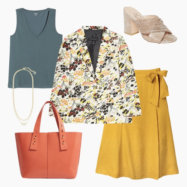 Colorful women's summer workwear