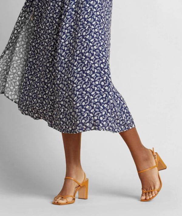 Women's flowy blue skirt
