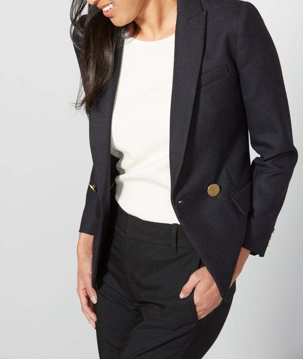 Women in a black blazer