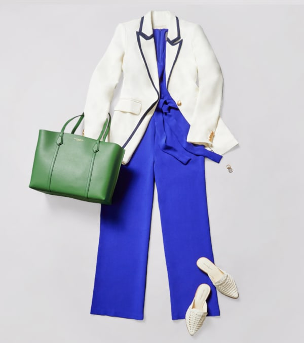 The best shoes to wear with a tapered jumpsuit are flats