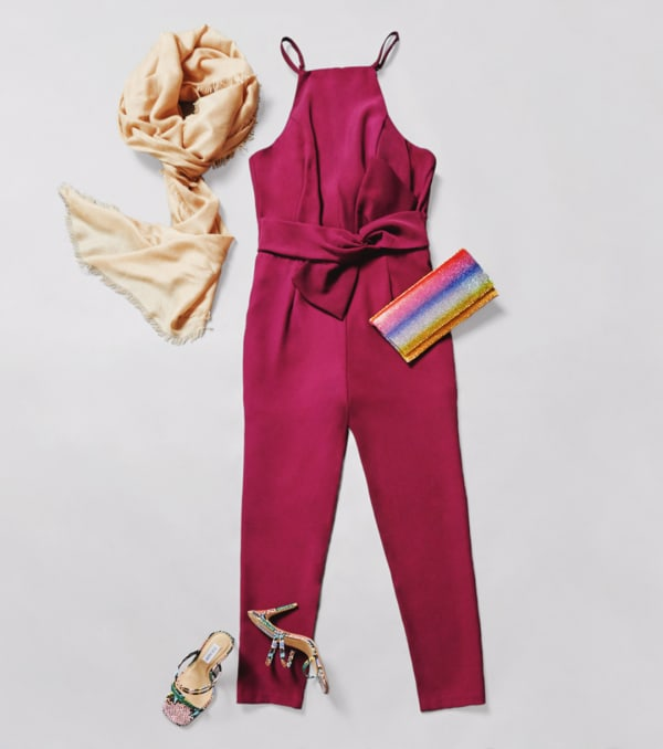 Jumpsuits pair great with heeled sandals for the spring and summer