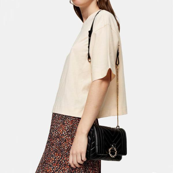 Women's black shoulder bag