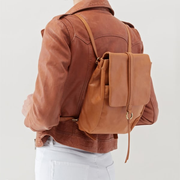 Brown backpack purse