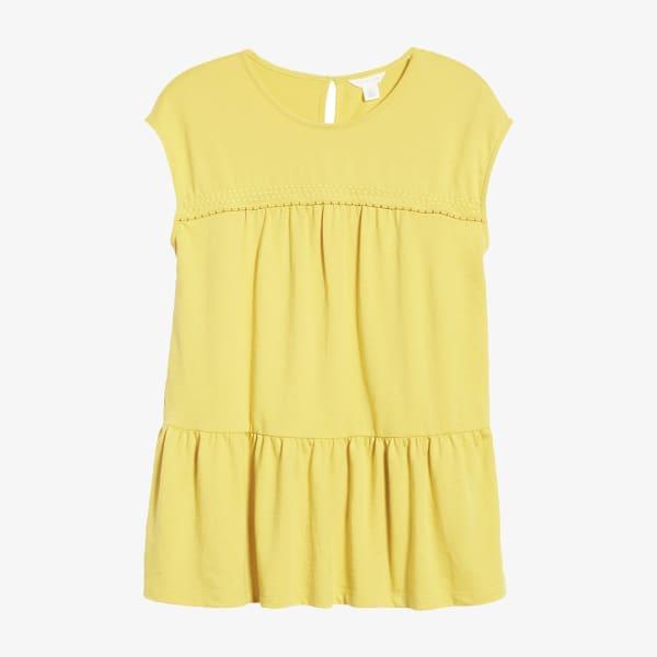Yellow babydoll t-shirt