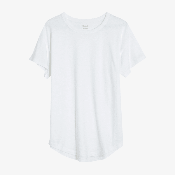Women's white crewneck t-shirt