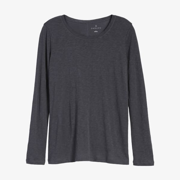 Gray long sleeve t-shirt style for women