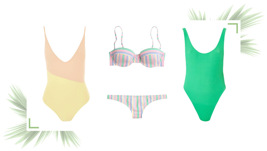 Colorful swimsuits for a Miami vacation